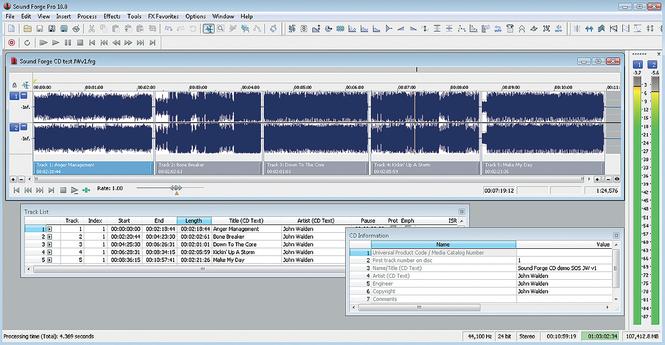 Sound Forge Pro Screenshot