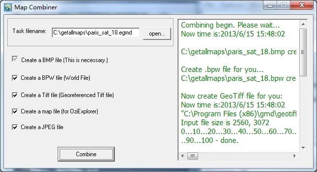 screenshot of Map Combiner