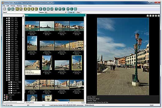 PixFiler database main screen