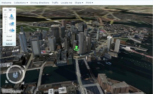 Microsoft Virtual Earth 3D screenshot 2