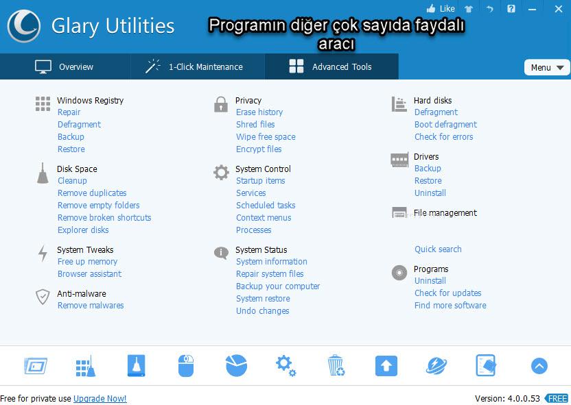 glary utilities özellikleri