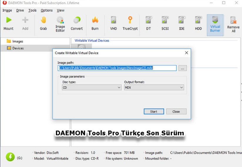 DAEMON Tools Pro Türkçe Son Sürüm