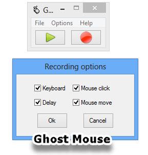 Ghost Mouse fare hareketlerini kaydetme ve tekrar ettirme programı
