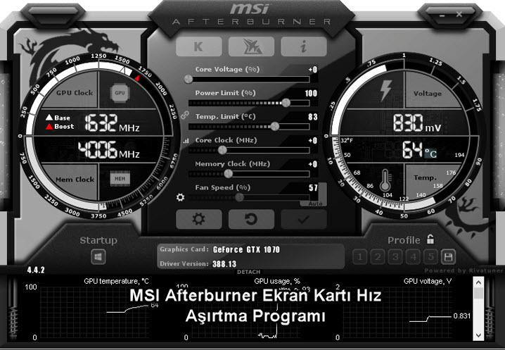 MSI Afterburner Ekran Kartı Hız Aşırtma Programı