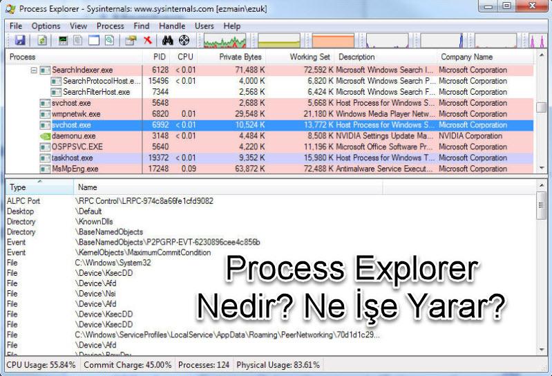 Process Explorer Nedir? Ne İşe Yarar?