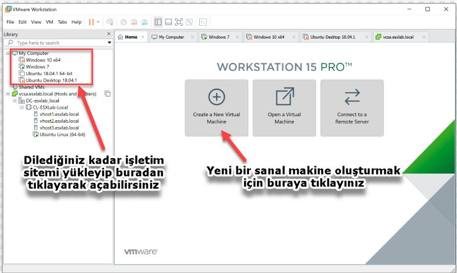 VMware Workstation Player 15 ekran görüntüsü resmi