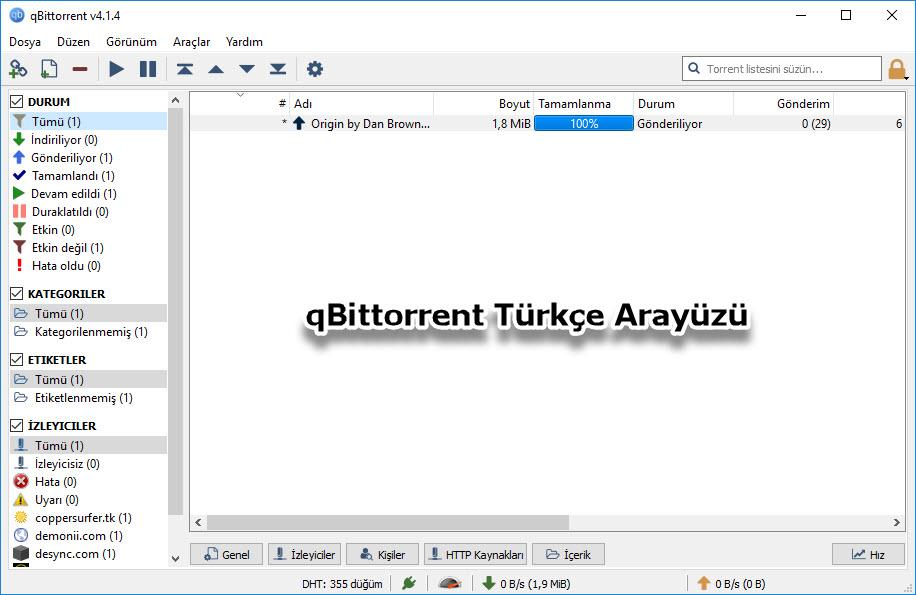 qBittorrent Türkçe Arayüzü