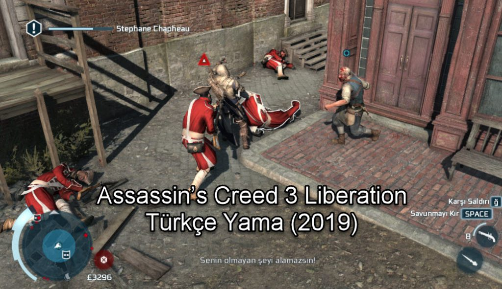Assassin's Creed 3 Liberation Türkçe Yama (2019)
