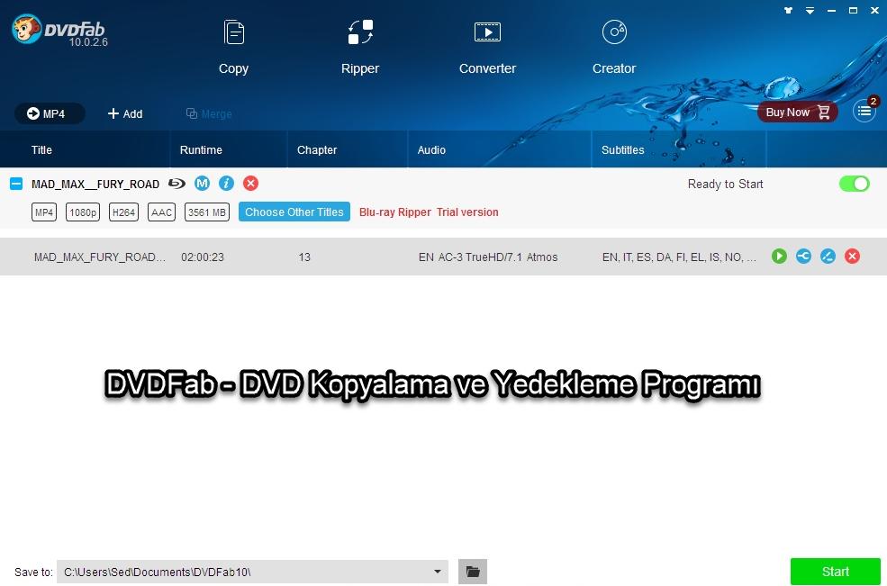 DVDFab - DVD Kopyalama ve Yedekleme Programı