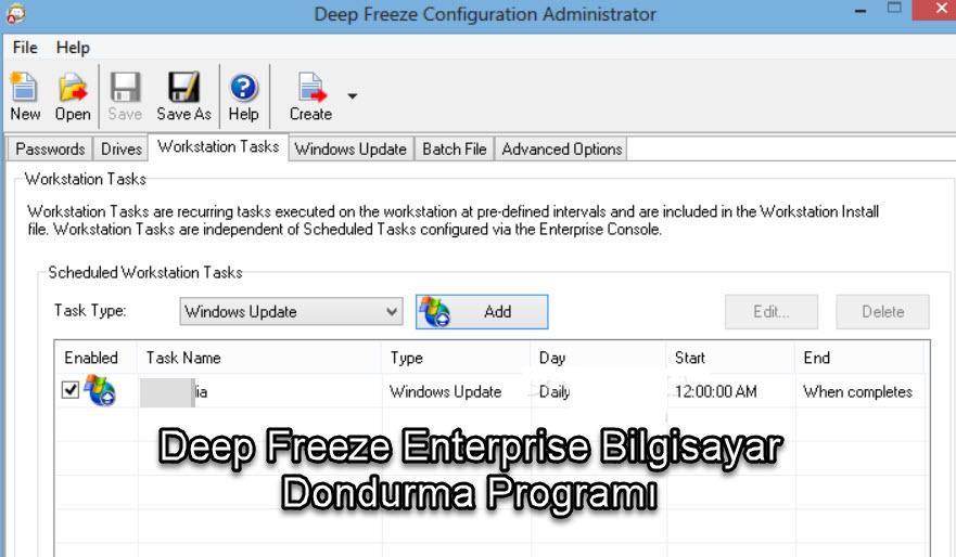 Deep Freeze Enterprise Bilgisayar Dondurma Programı