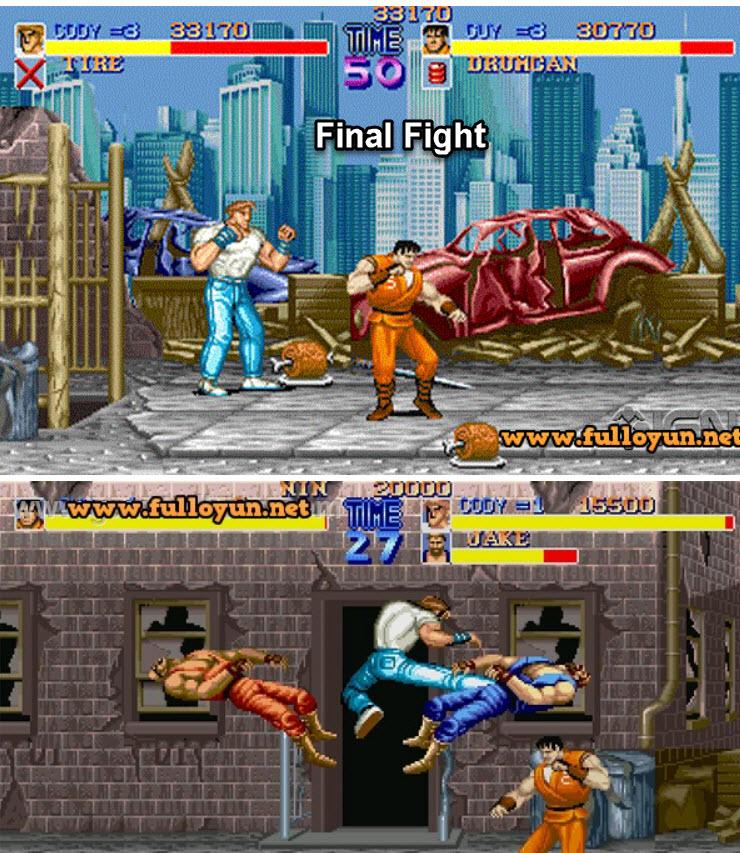 Final fight windows bilgisayar için dövüş oyunu