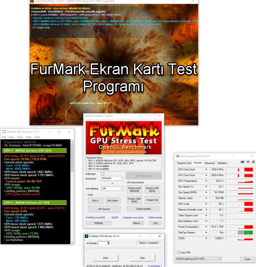 FurMark Ekran Kartı Test Programı
