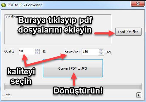LotApps PDF To JPG Converter kullanımı