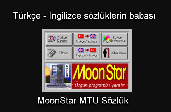 MoonStar MTU Sözlük türkçe ingilizce