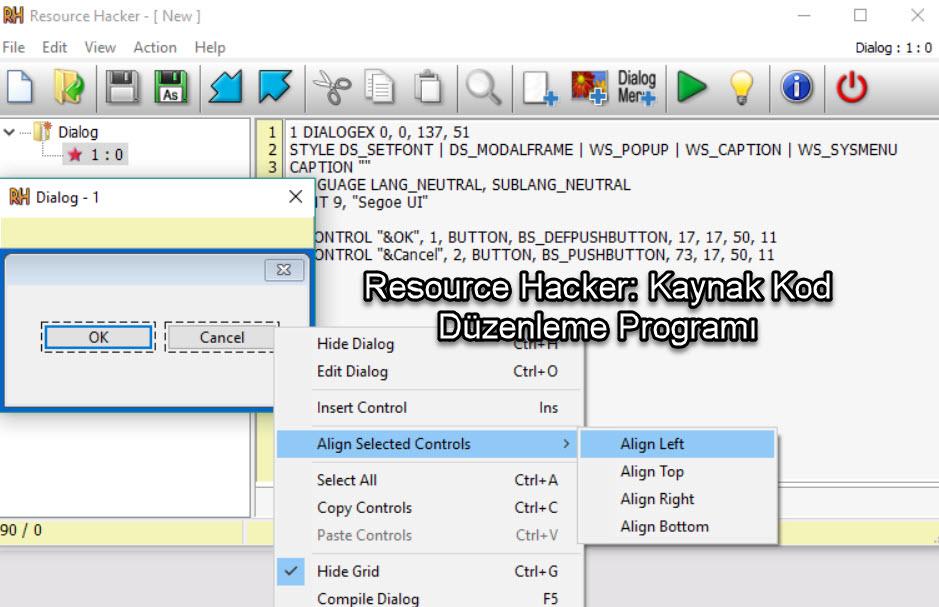 Resource Hacker: Kaynak Kod Düzenleme Programı