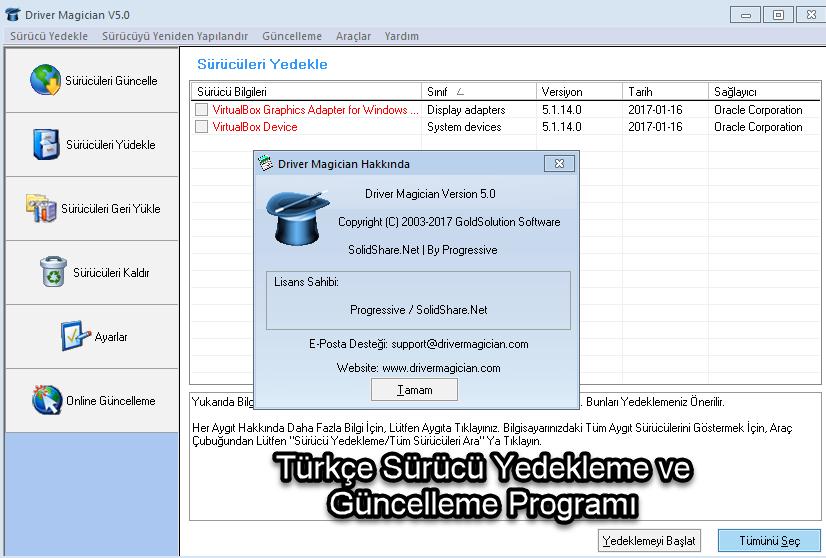 Türkçe Sürücü Yedekleme ve Güncelleme Programı